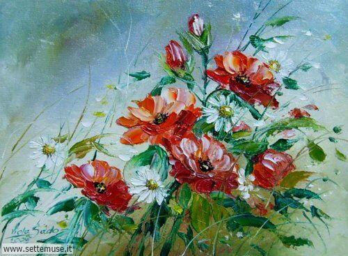 arte e dipinti su fiori di Viola Sado 17