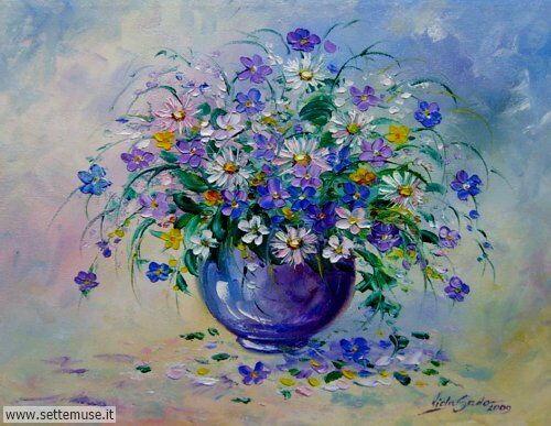 arte e dipinti su fiori di Viola Sado 18