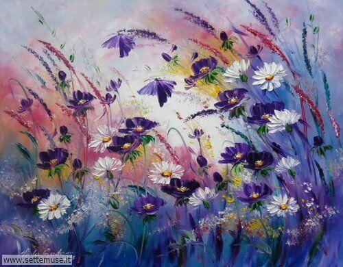 arte e dipinti su fiori di Viola Sado 02