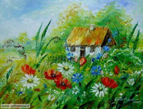 arte e dipinti su fiori di Viola Sado 24
