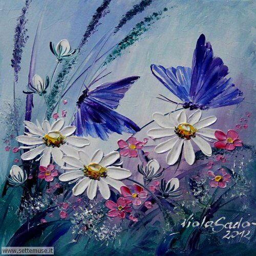 arte e dipinti su fiori di Viola Sado 28