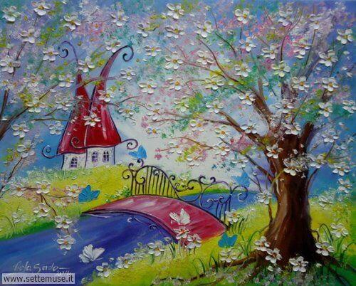 arte e dipinti su fiori di Viola Sado 34