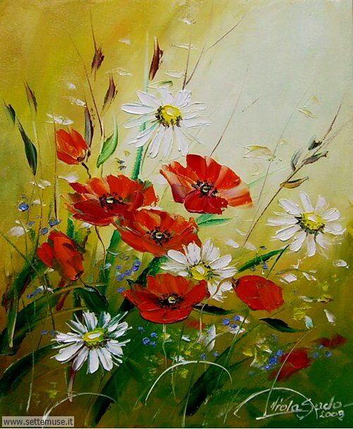 arte e dipinti su fiori di Viola Sado 06