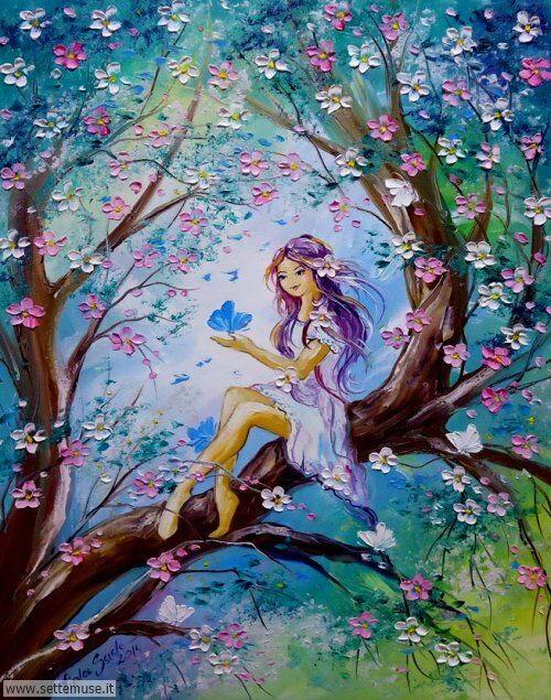 arte e dipinti su i magici fiori di Viola Sado