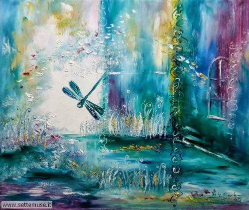 arte e dipinti su fiori di Viola Sado 66