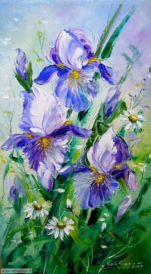 arte e dipinti su fiori di Viola Sado 08