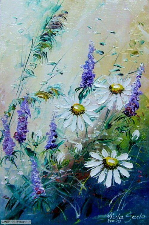 arte e dipinti su fiori di Viola Sado 09