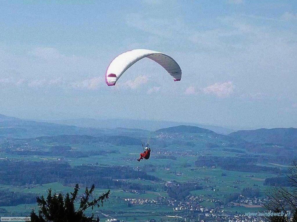 foto di volo sportivo volo aereo deltaplano per sfondi 9
