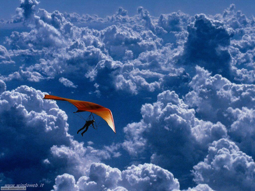 foto di volo sportivo volo aereo deltaplano per sfondi 45
