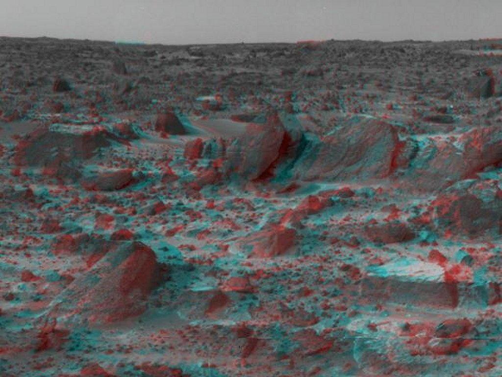 Sfondi desktop foto di Marte in 3D (usare gli occhiali bicolore) 006