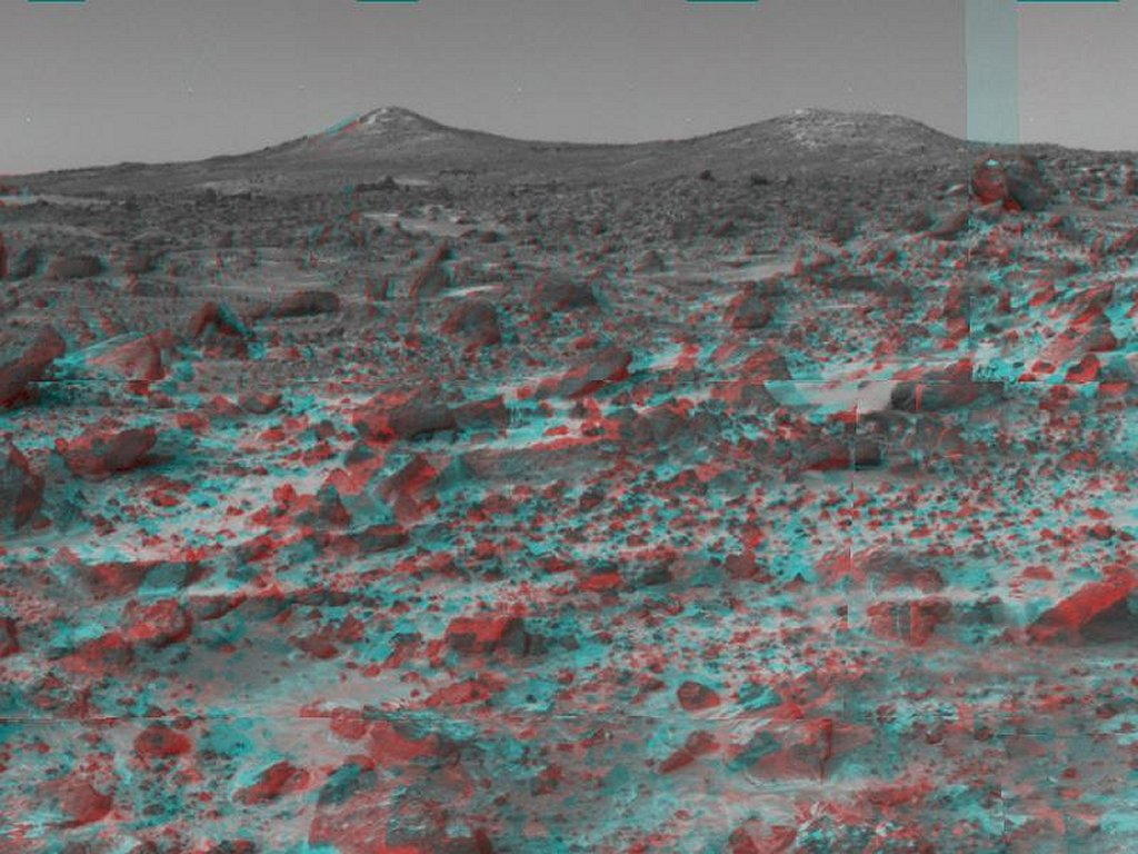 Sfondi desktop foto di Marte in 3D (usare gli occhiali bicolore) 008