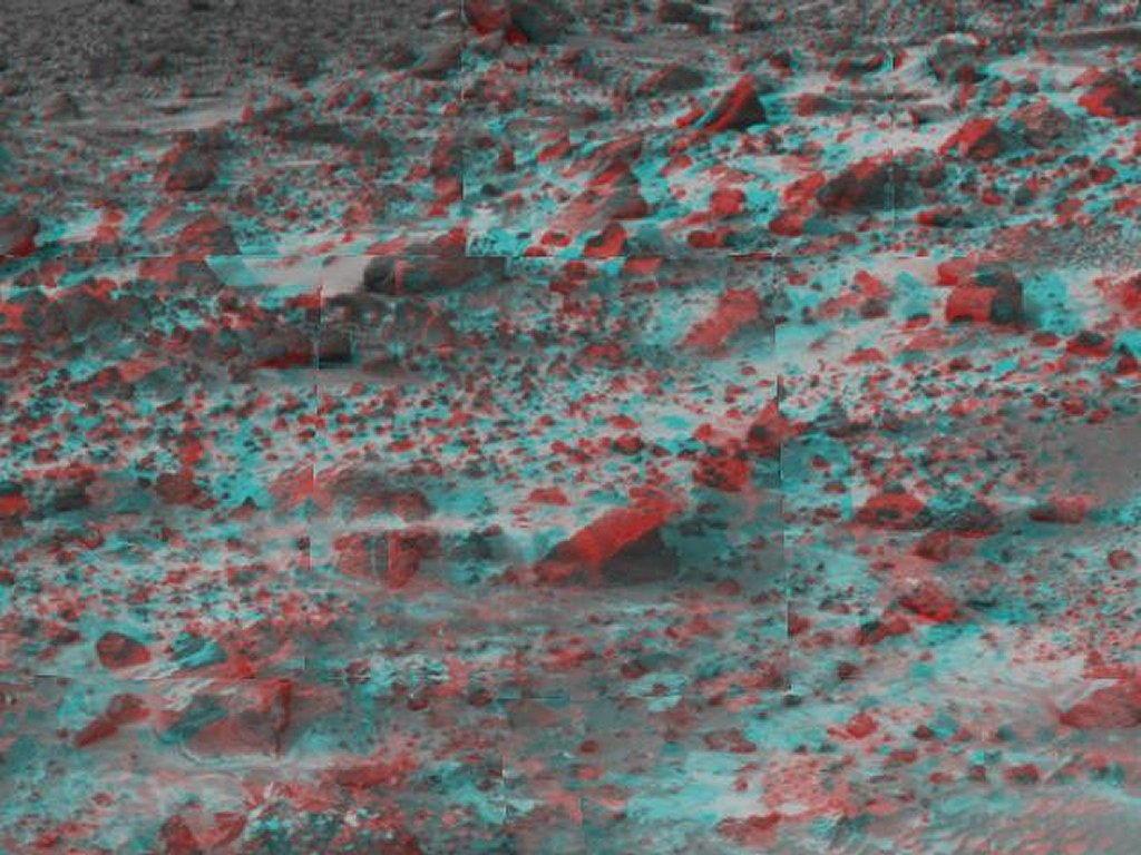 Sfondi desktop foto di Marte in 3D (usare gli occhiali bicolore) 009