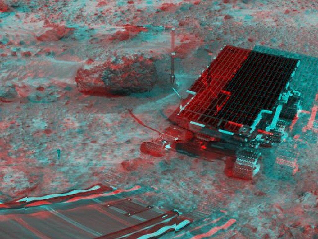 Sfondi desktop foto di Marte in 3D (usare gli occhiali bicolore) 011