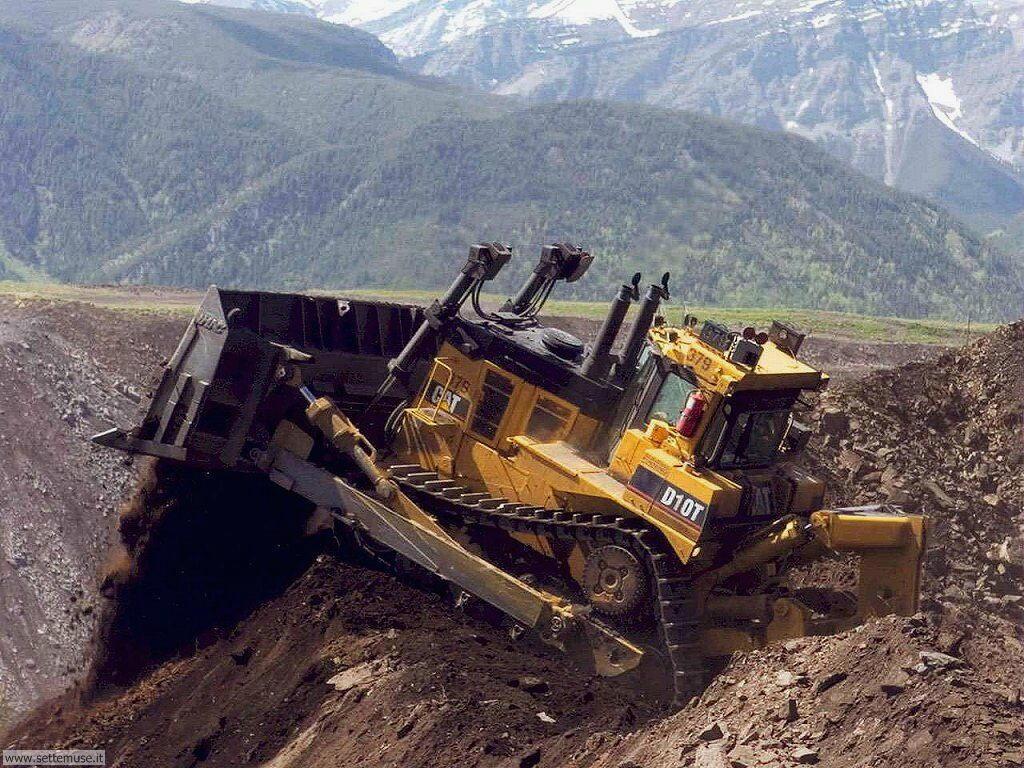 foto di mezzi movimento terra per sfondi