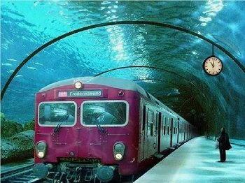 treno sott acqua danimarca