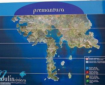 Premantura - Cartina