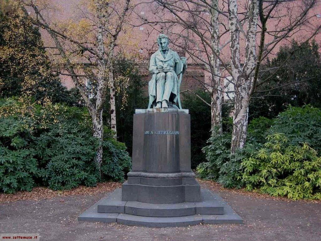Danimarca statua Kierkegaard