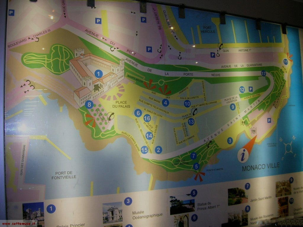 Mappa del Principato di Monaco
