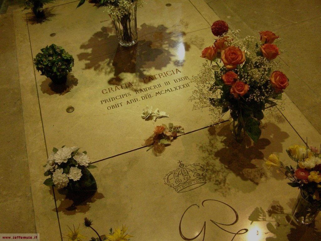 Tomba di Grace Kelly, nella chiesa del principato di Monaco