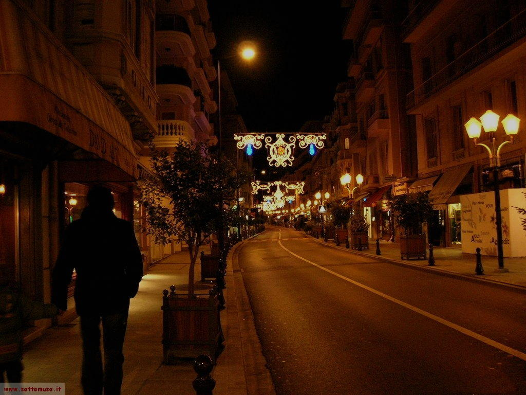 Montecarlo by night, le vie cittadine illuminate