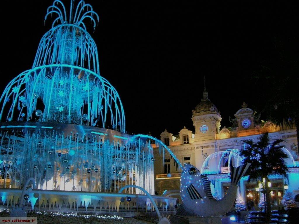 Montecarlo by night, la fontana a Natale