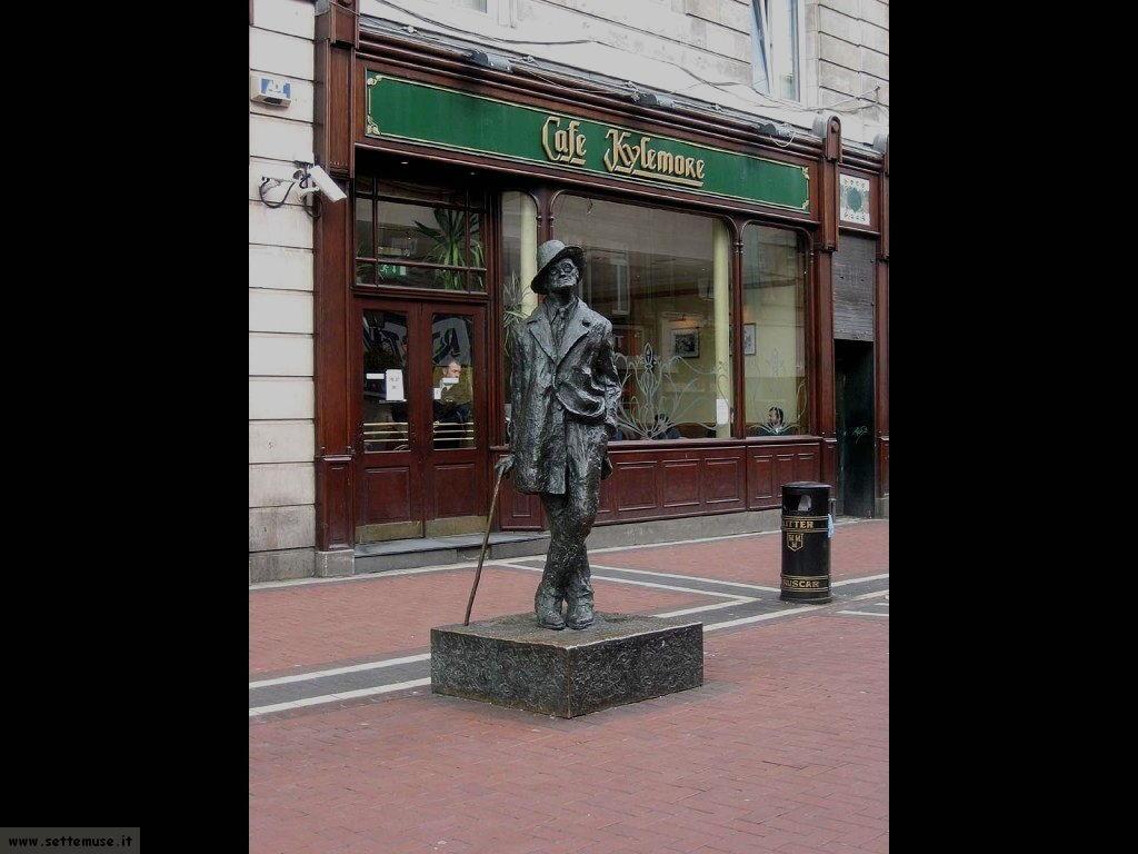 irlanda dublino statua james joyce