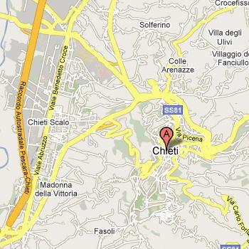 Cartina della provincia di Chieti