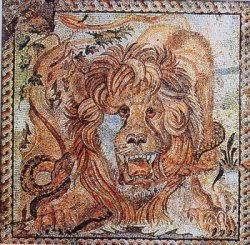 parte de la Domus de Teramo Masaico león