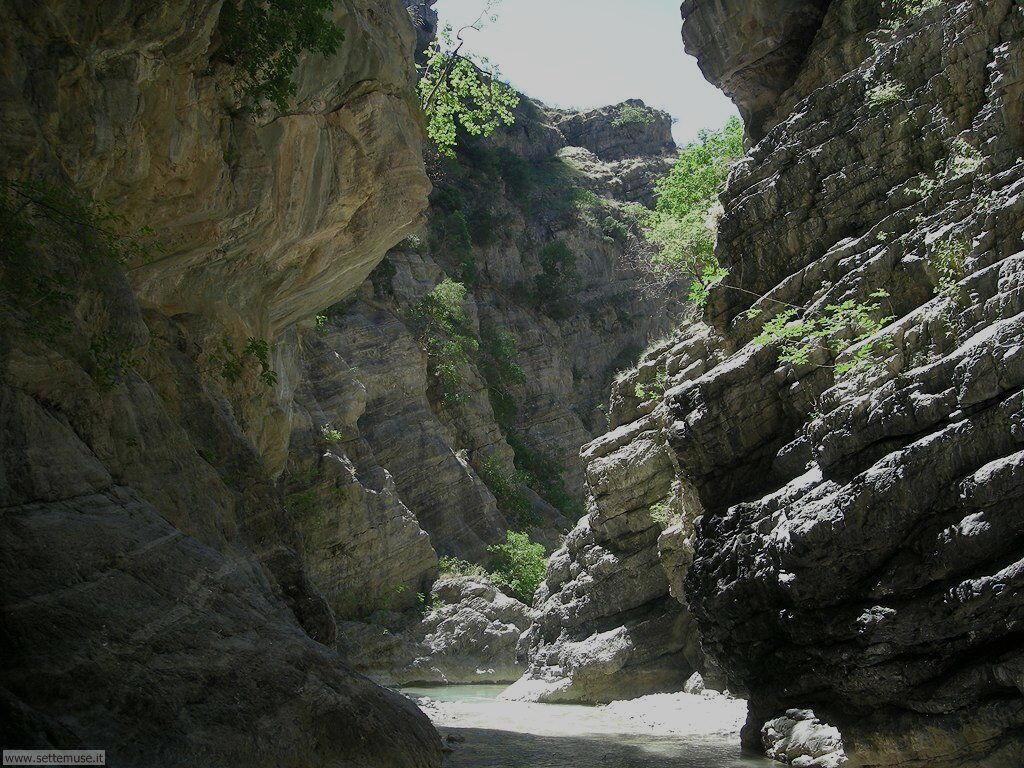 Fiume Raganello, ponte del diavolo Civita Cosenza Calabria