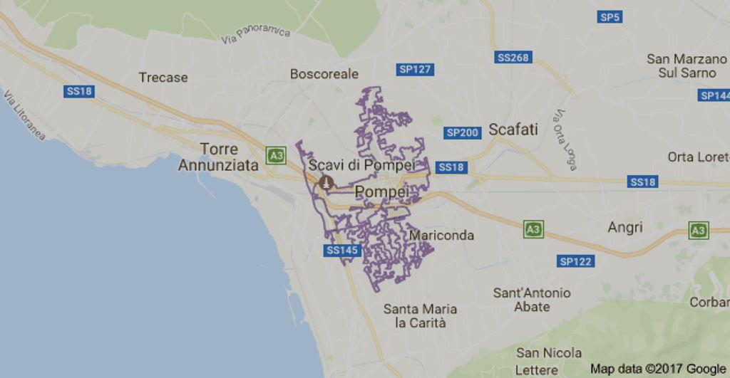 Mappa di Pompei