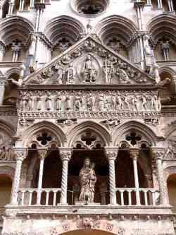 Ferrara - Foto della Facciata centrale della Cattedrale