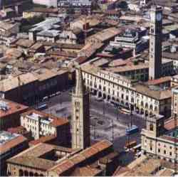 Forlì: la città storica vista dall'alto