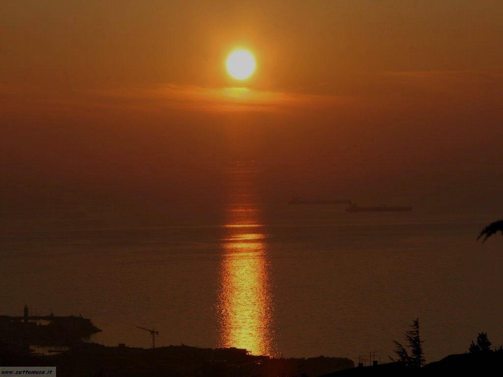Trieste golfo al tramonto
