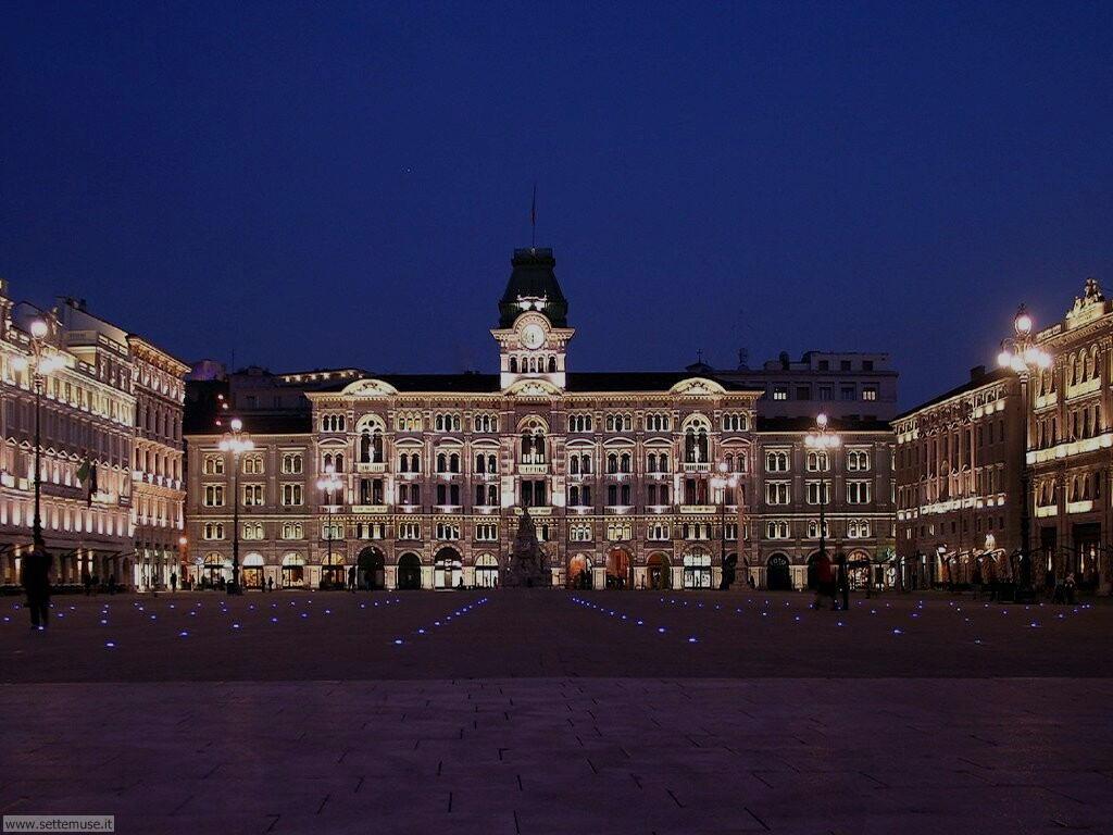 trieste citta piazza unita italia di notte