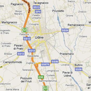 Cartina geografica udine e provincia vrijzinnigepolitiek for Arredamenti udine e provincia