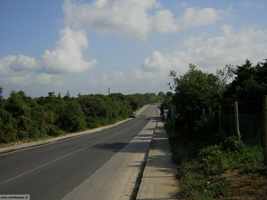 Strada lungo le dune