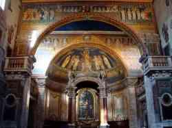 Santa Prassede - Navata e mosaico absidale