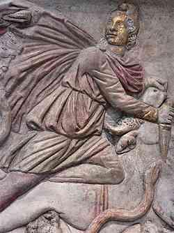 Bassorilievo trovato  nel Mitreo