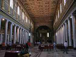 Basilica di Santa Maria Maggiore - Soffitto Ligneo e le 36 colonne
