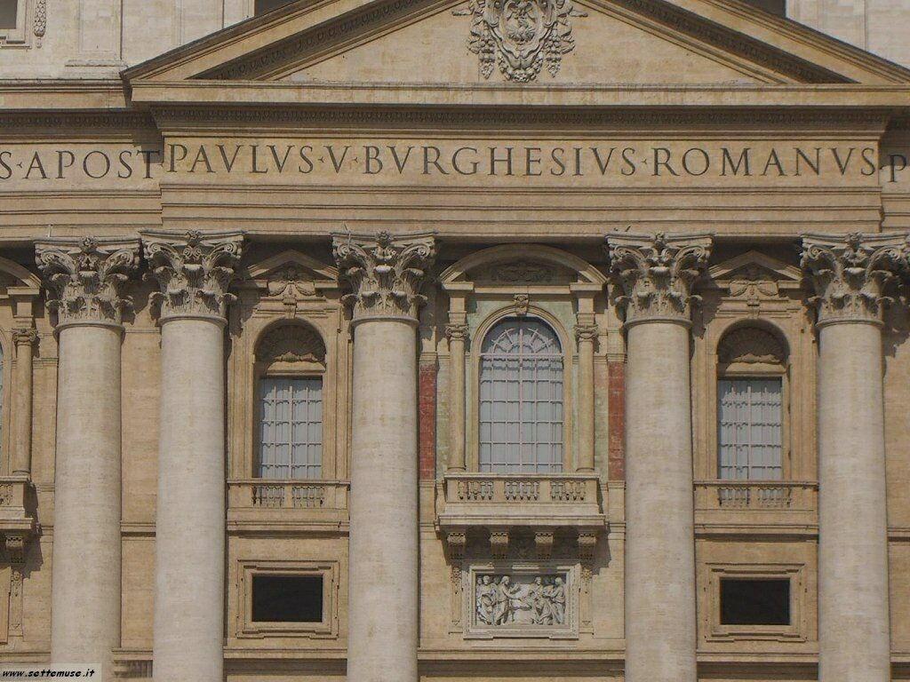 roma balcone del Papa in san pietro foto 31