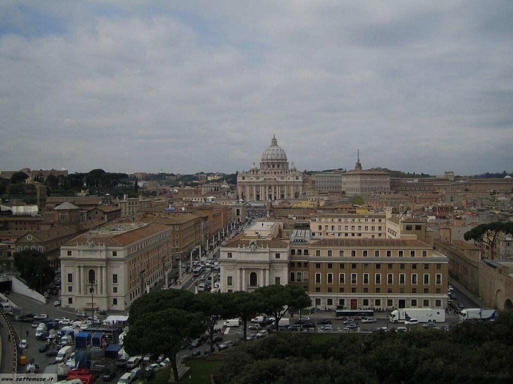 roma panorama basilica san pietro