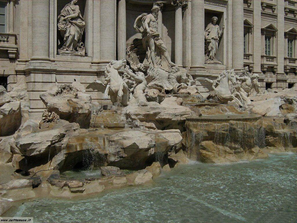 Roma fontana di trevi foto 53