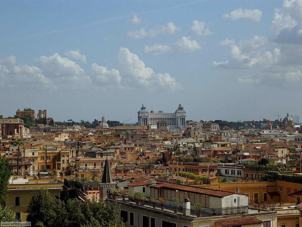 Roma panorama da accademia villa medici foto 59