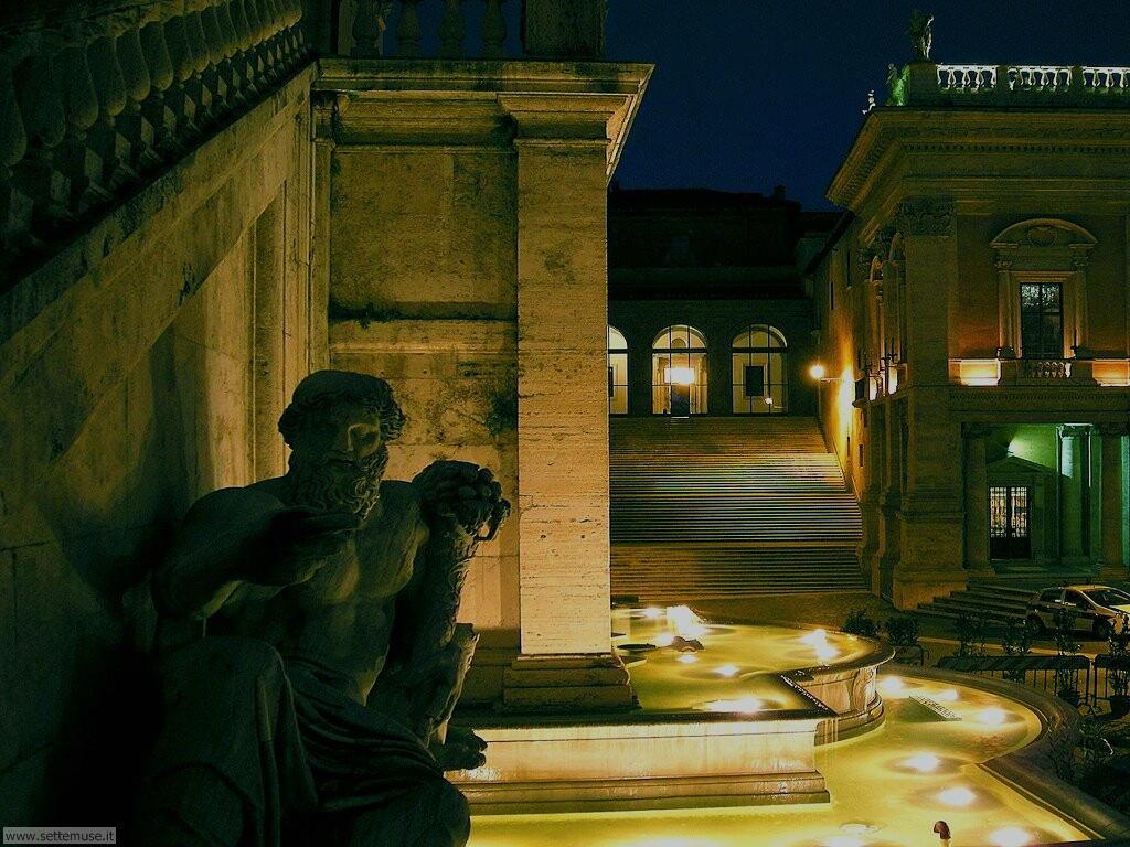 Roma piazza del campidoglio notturno foto 75