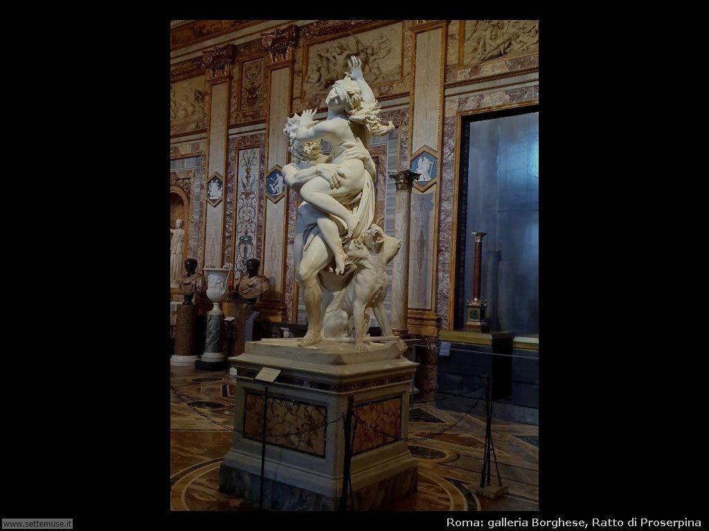 Roma galleria borghese ratto di Proserpina