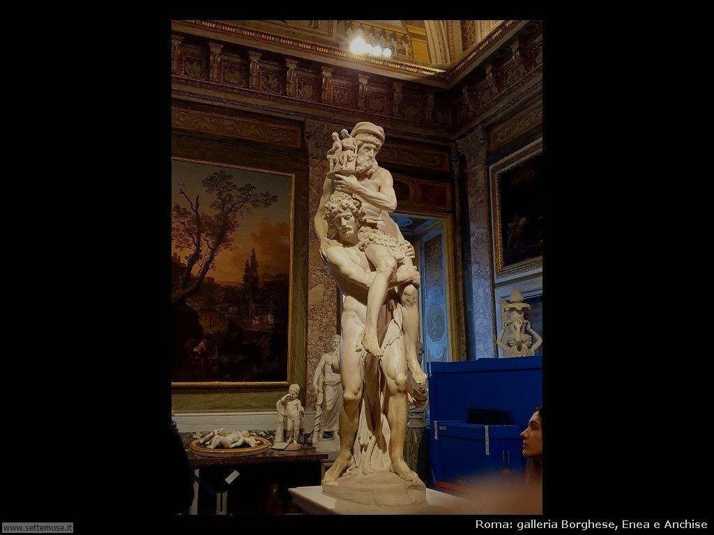 Roma galleria borghese Enea e Anchise