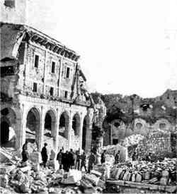 Rovine di Montecassini nel 1944