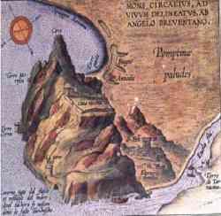Monte Circeo in una antica mappa