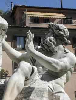 Roma - Fontana dei Fiumi - Danubio