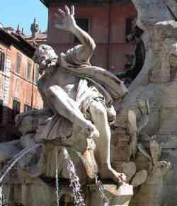Roma - Fontana dei Fiumi - Rio della Plata